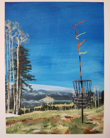 Scott Moore Disc Golf Series, Acrylic Ink