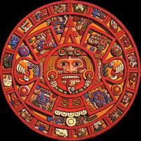 radial symmetry in art seen in a Mayan Calendar