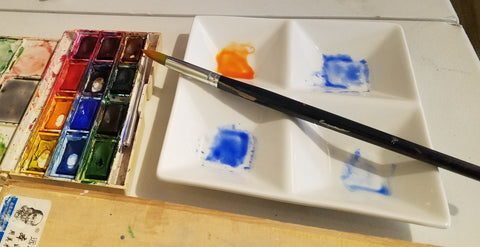 mixing complementary colors in watercolor