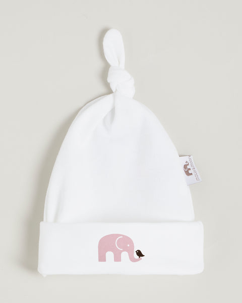 Pink Elephant Knotted Hat