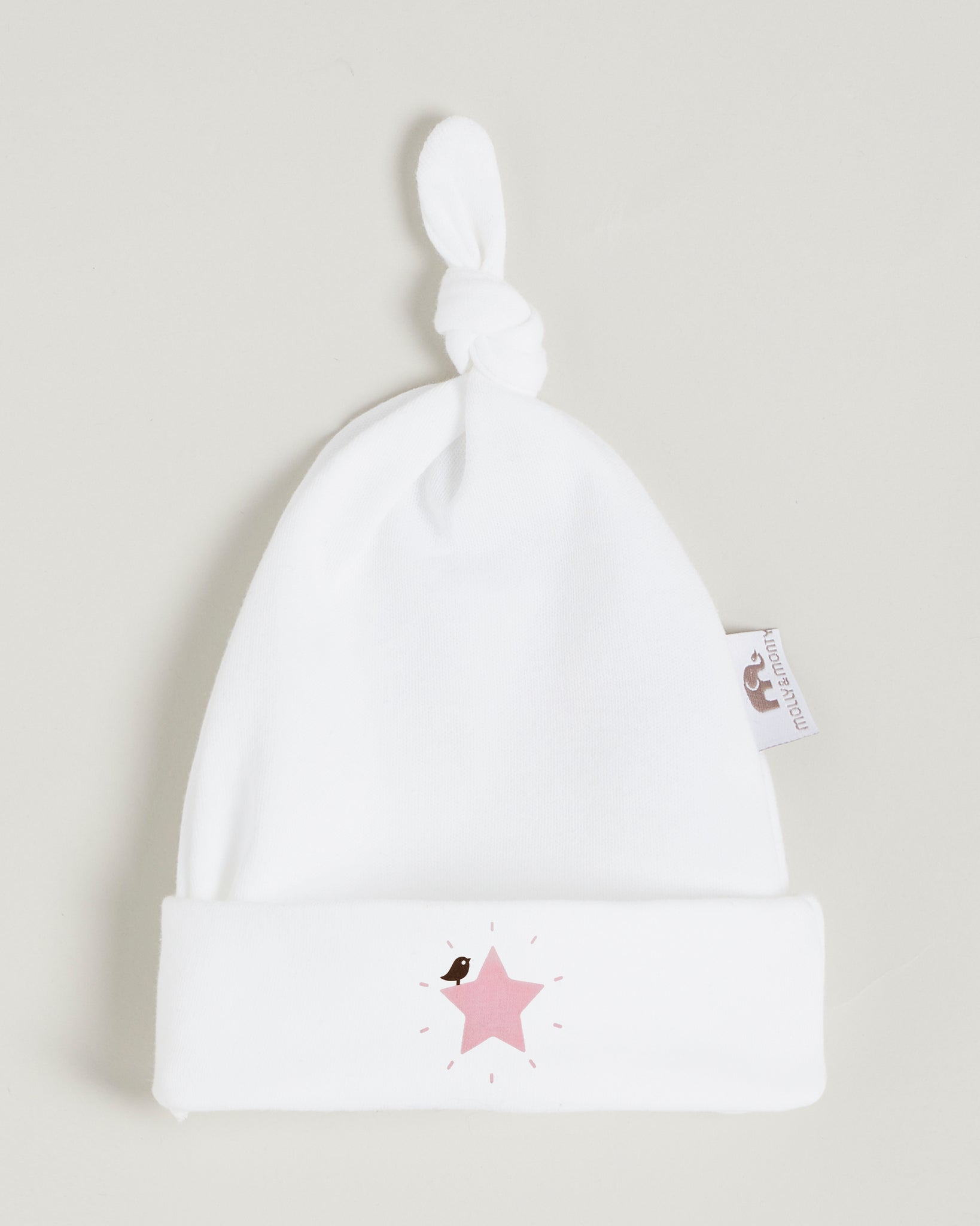 Pink Star Knotted Hat