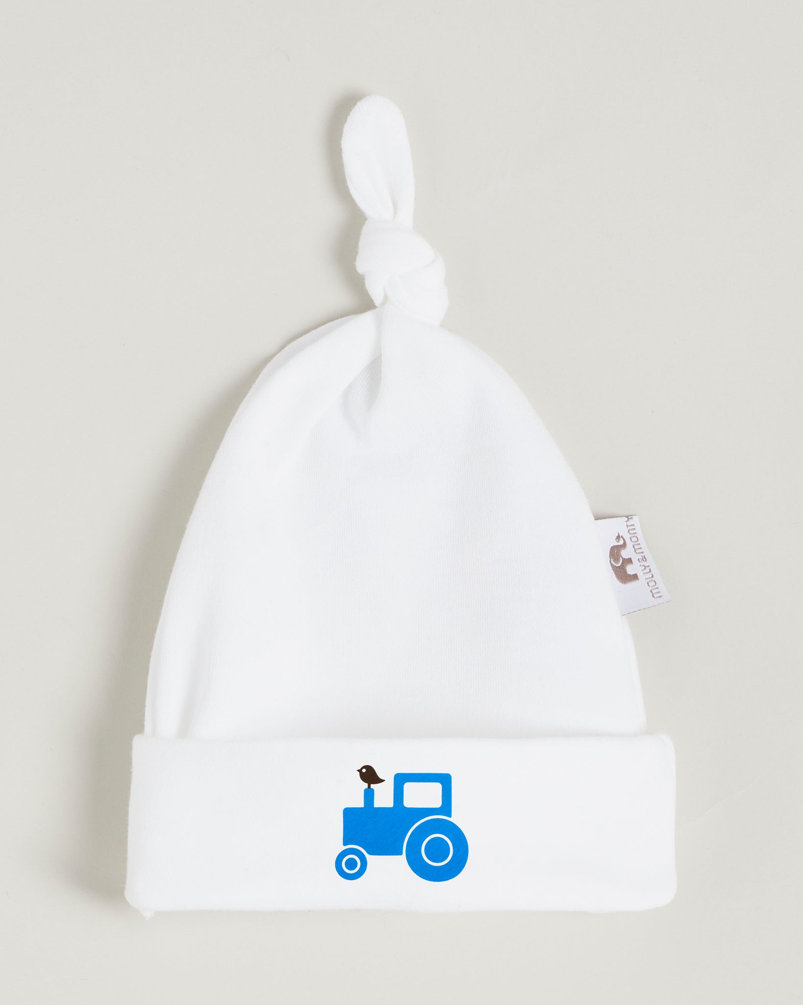 Blue Tractor Knotted Hat