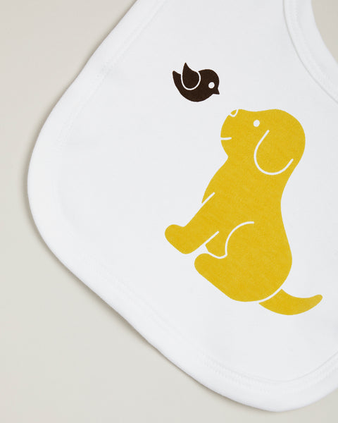 Yellow Puppy Bib