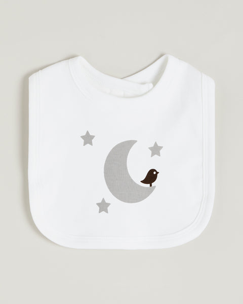 Grey Moon Bib