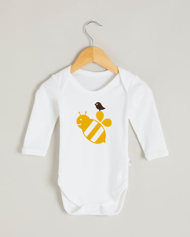 Yellow Bee Long Sleeve Bodysuit