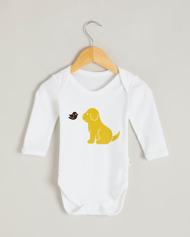 Yellow Puppy Long Sleeve Bodysuit