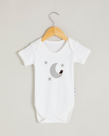 Grey Moon Short Sleeve Bodysuit