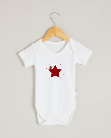 Red Star Short Sleeve Bodysuit