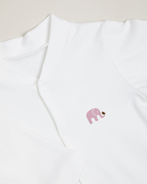 Purple Elephant Sleepsuit
