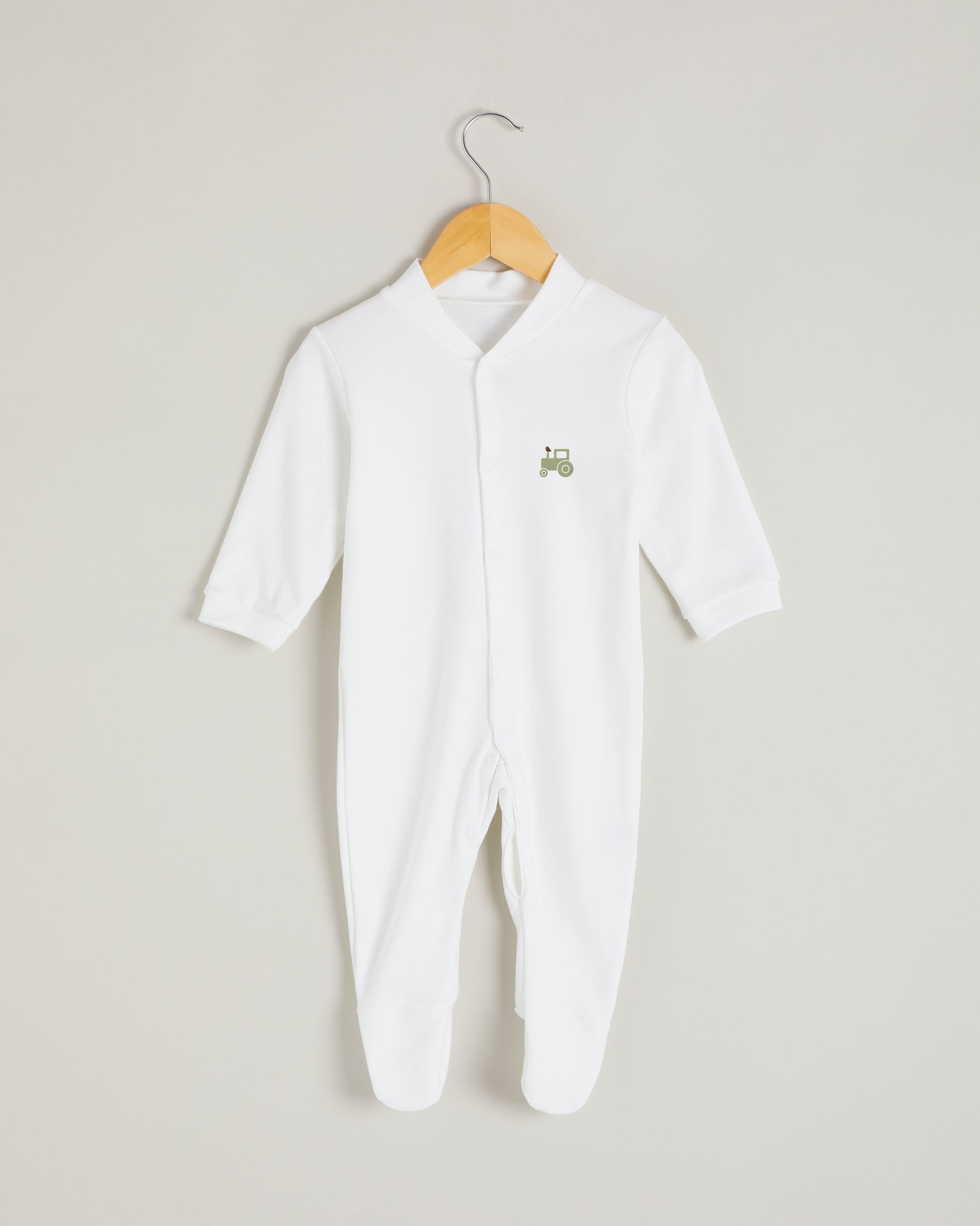 Green Tractor Sleepsuit