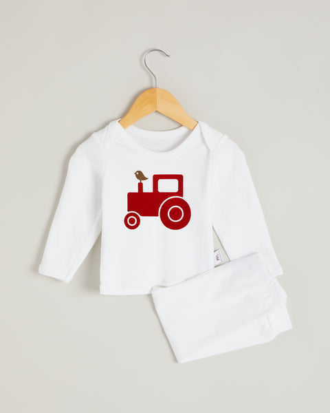 Red Tractor Long Sleeve Lounge Set