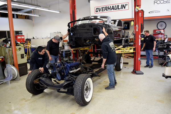 Chip Foose team working on 1949 Cadillac