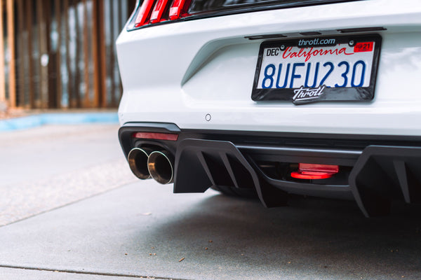 Close up of MagnaFlow exhaust tip on 2020 Ford Mustang GT