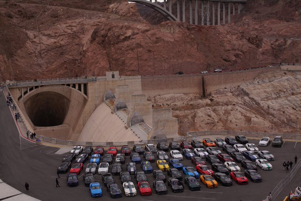 Ford Mustangs at the Hoover Dam meetup