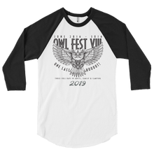 Load image into Gallery viewer, Owlfest 3/4 sleeve raglan shirt