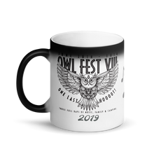 Load image into Gallery viewer, Owlfest Matte Black Magic Mug