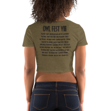 Load image into Gallery viewer, Owlfest Women's Crop Tee