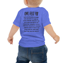 Load image into Gallery viewer, Owlfest Baby Jersey Short Sleeve Tee