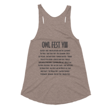 Load image into Gallery viewer, Owlfest Women's Tri-Blend Racerback Tank