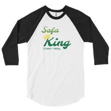 Load image into Gallery viewer, Sofa King GV 3/4 sleeve raglan shirt