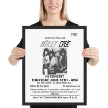 "Load image into Gallery viewer, ""The Crüe"" GV/NC Framed poster"