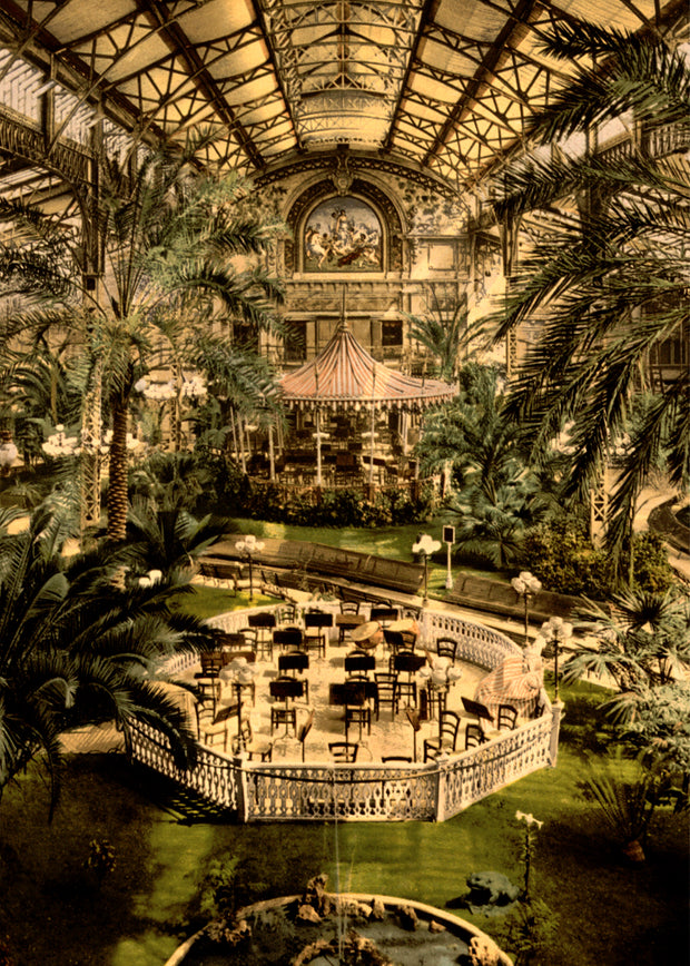 Winter garden in the casino of Nice