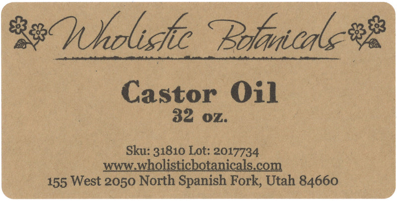 Castor Oil Label
