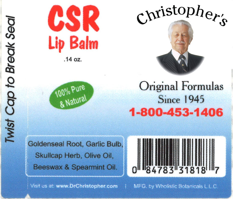 CSR Lip Balm Label