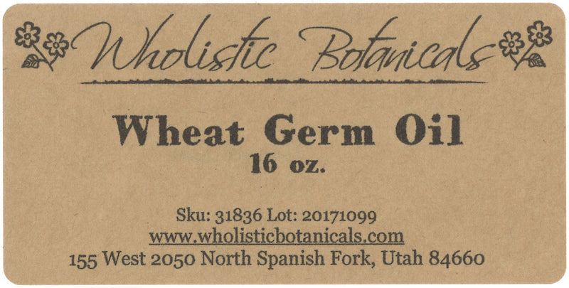 Wheat Germ Oil Label