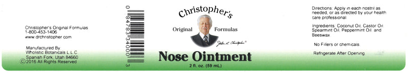 Nose Ointment Label