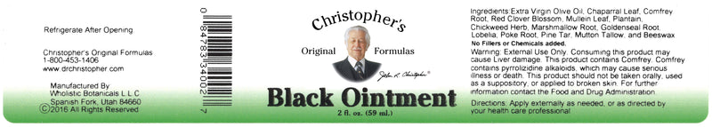 Black Drawing Ointment Label