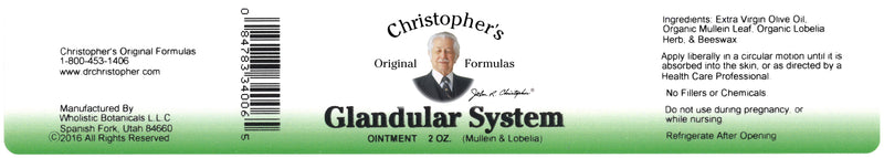 Glandular System Ointment Label