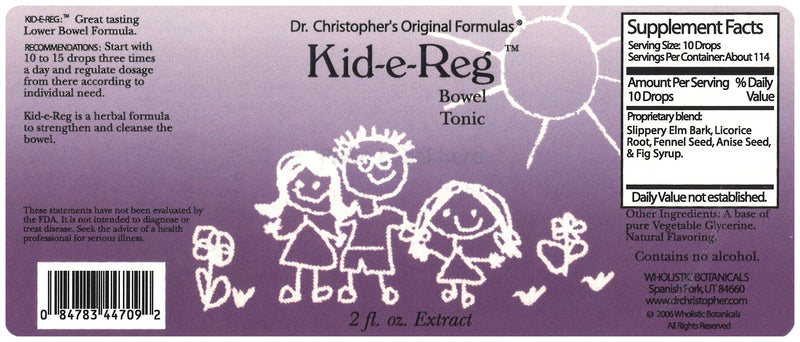 Kid-e-Reg Extract Label