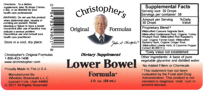 Lower Bowel Extract Label