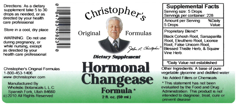 Hormonal Changease Extract Label