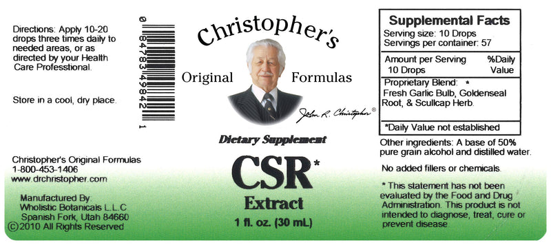 CSR Extract Label