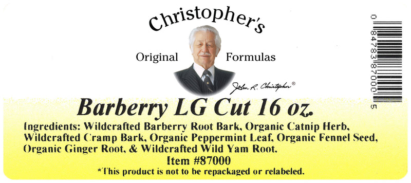 Barberry L.G. Cut Label