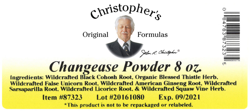 Changease Powder Label