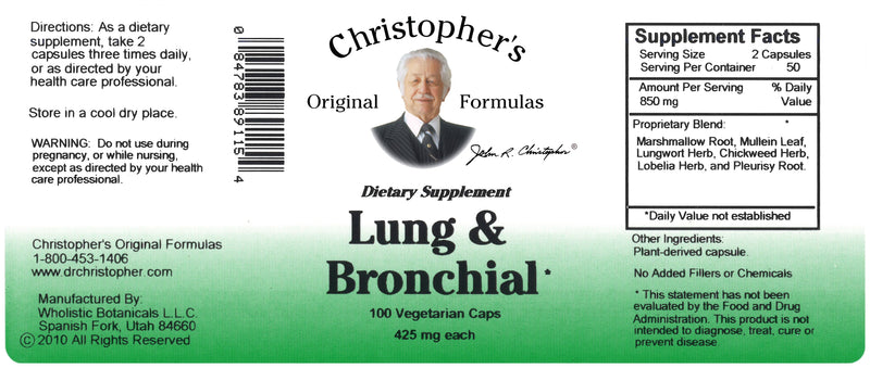 Lung & Bronchial Capsule Label
