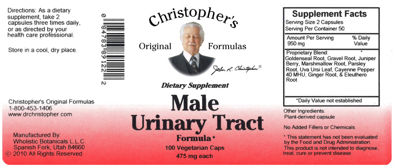 Male Urinary Tract Capsule Label