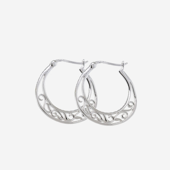 Simple Open Hoops with Filigree