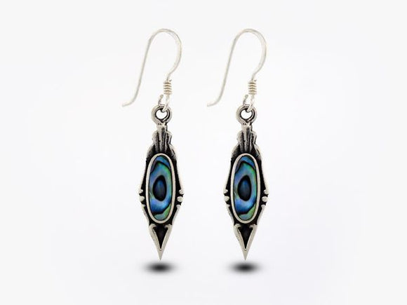 Elegant Abalone Earrings with Oval Stone