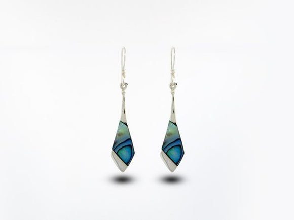 Abalone Tie Shaped Earrings