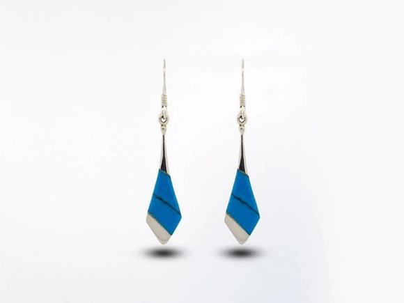 Blue Turquoise Tie Shaped Earrings