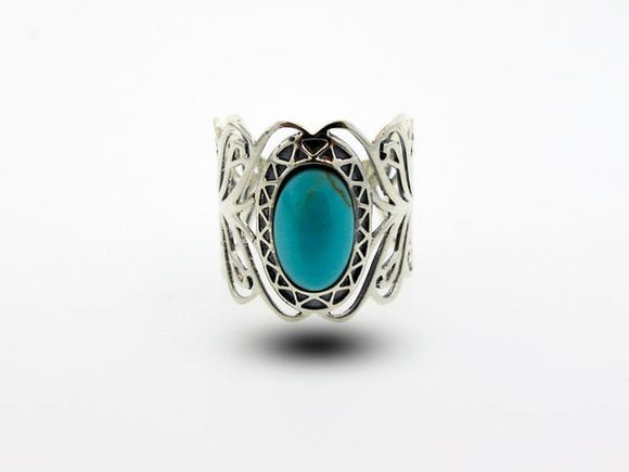 Turquoise Ring with Elegant Open Design