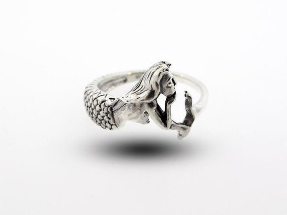Sterling Silver Mermaid Band Ring