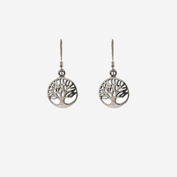 Sterling Cutout Tree of Life Earring