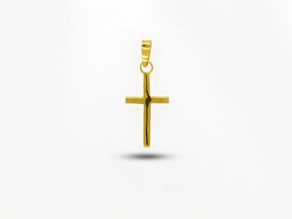 Small Cross Charm with Gold Overlay