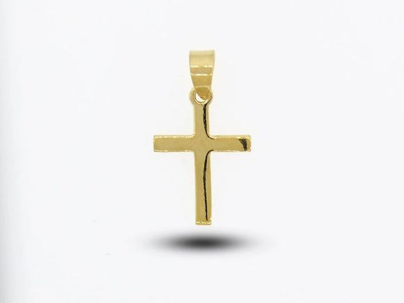 Cross Charm with a Gold Overlay