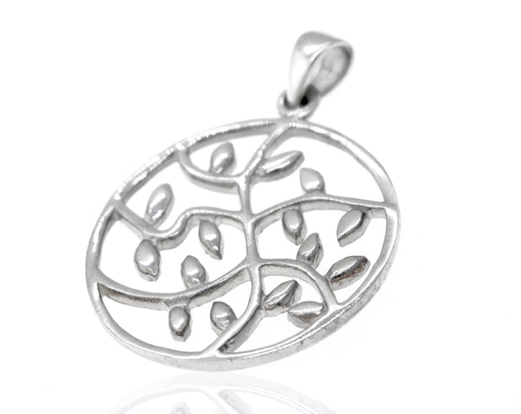 Vines in Circle Pendant